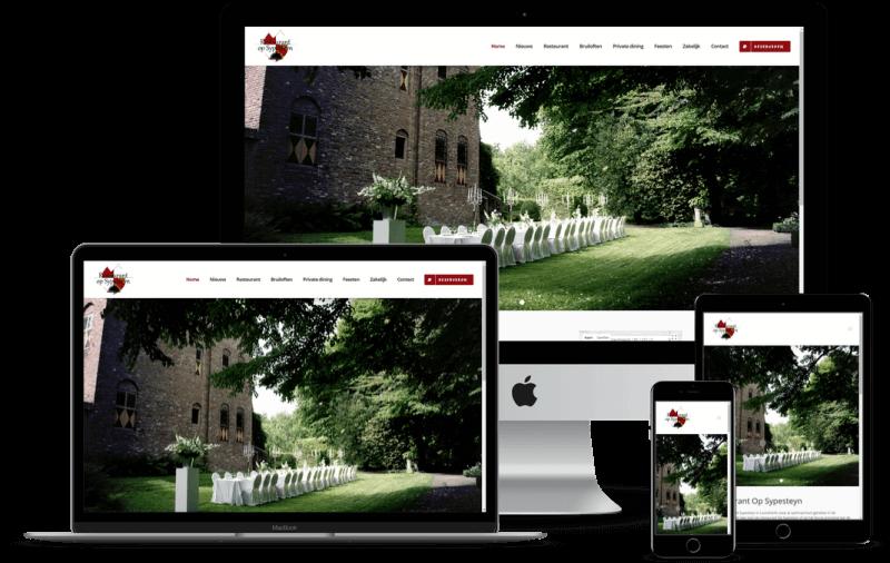 Voorbeeld horeca website
